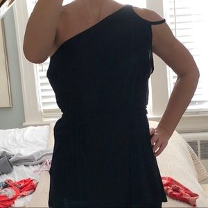 French Connection one shoulder tunic